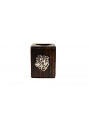 English Bulldog - candlestick (wood) - 3909