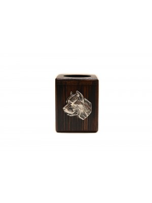 Cane Corso - candlestick (wood) - 3885