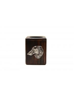 Barzoï Russian Wolfhound - candlestick (wood) - 3915