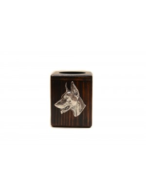 Doberman pincher - candlestick (wood) - 3921