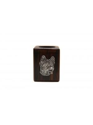 Briard - candlestick (wood) - 3887