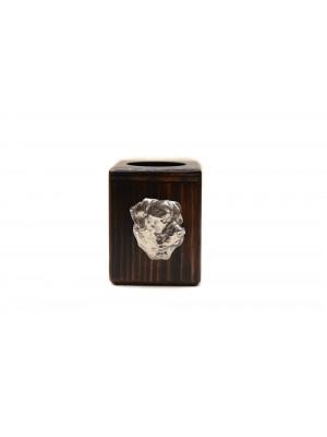 Rottweiler - candlestick (wood) - 3889