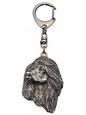 Afghan Hound - keyring (silver plate) - 65