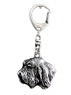 Basset Hound - keyring (silver plate) - 74