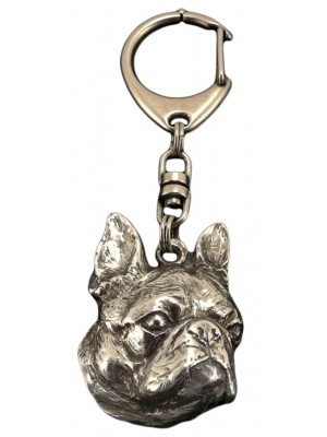 Boston Terrier - keyring (silver plate) - 54