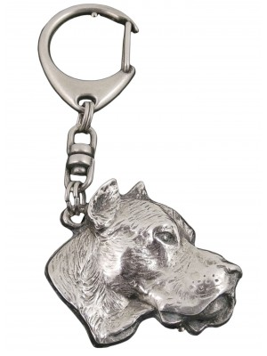 Dogo Argentino - keyring (silver plate) - 30