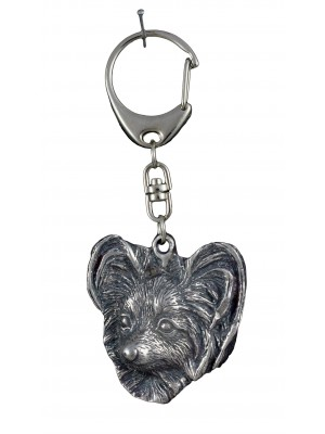 Papillon - keyring (silver plate) - 1123