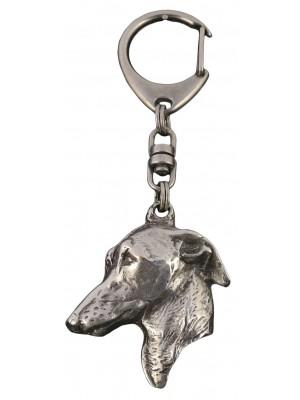 Italian Greyhound - keyring (silver plate) - 106