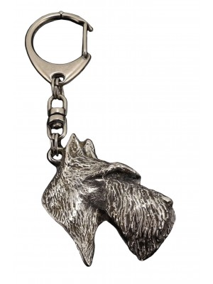 Scottish Terrier - keyring (silver plate) - 79