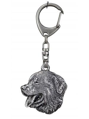 Bernese Mountain Dog - keyring (silver plate) - 721