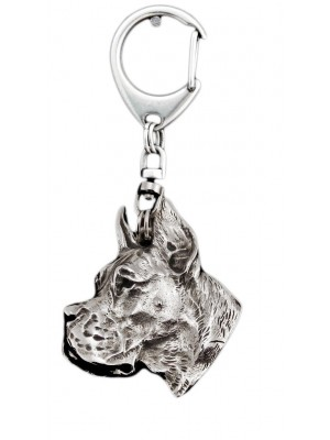 Great Dane - keyring (silver plate) - 4