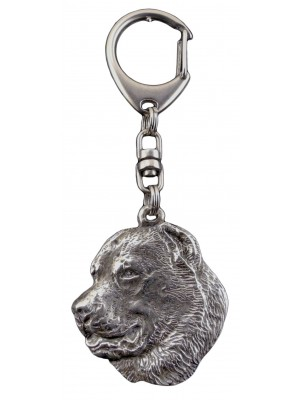 Central Asian Shepherd Dog - keyring (silver plate) - 97