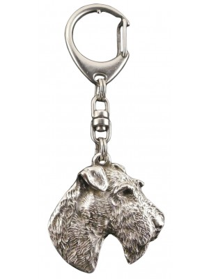 Airedale Terrier - keyring (silver plate) - 99