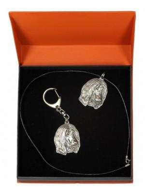 Afghan Hound - keyring (silver plate) - 2205 - 21267