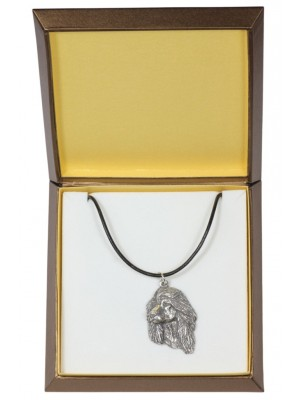 Afghan Hound - necklace (silver plate) - 2946 - 31090