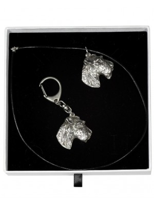 Airedale Terrier - keyring (silver plate) - 2003 - 16007