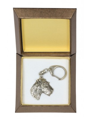Airedale Terrier - keyring (silver plate) - 2787 - 29907