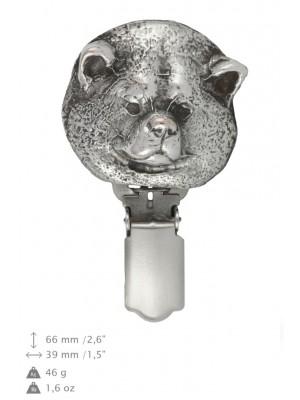 Akita Inu - clip (silver plate) - 258 - 26272