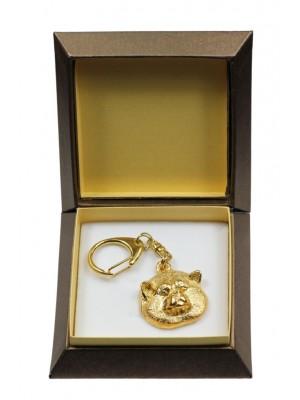 Akita Inu - keyring (gold plating) - 2863 - 30524