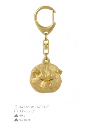 Akita Inu - keyring (gold plating) - 825 - 30024