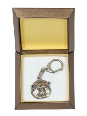 Akita Inu - keyring (silver plate) - 2758 - 29877