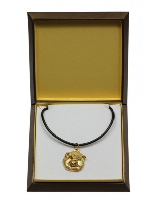 Akita Inu - necklace (gold plating) - 3042 - 31678