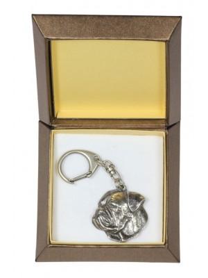 American Bulldog - keyring (silver plate) - 2791 - 29911