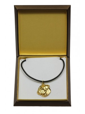 American Bulldog - necklace (gold plating) - 3060 - 31696