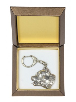 American Pit Bull Terrier - keyring (silver plate) - 2777 - 29897