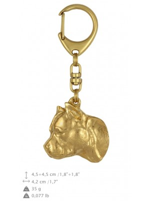 American Staffordshire Terrier - keyring (gold plating) - 830 - 25142
