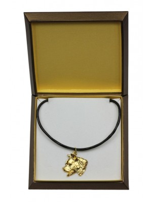 American Staffordshire Terrier - necklace (gold plating) - 2470 - 27629