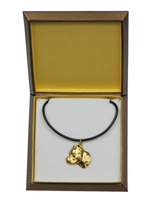 American Staffordshire Terrier - necklace (gold plating) - 2491 - 27650