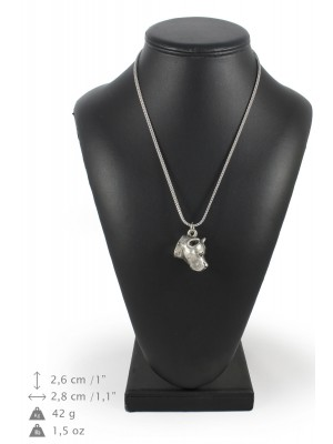 American Staffordshire Terrier - necklace (silver chain) - 3274 - 34225