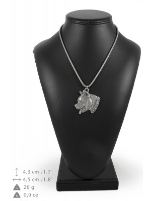 American Staffordshire Terrier - necklace (silver chain) - 3279 - 34266