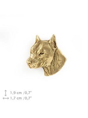 American Staffordshire Terrier - pin (gold) - 1506 - 7508