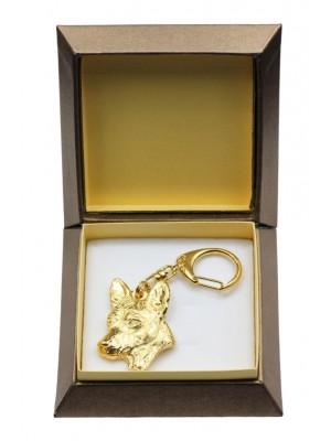 Basenji - keyring (gold plating) - 2880 - 30546