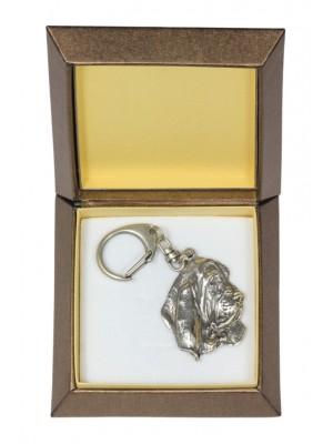 Basset Hound - keyring (silver plate) - 2808 - 29931