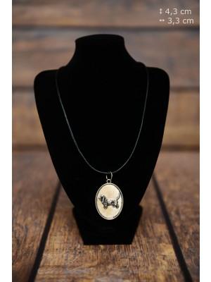 Basset Hound - necklace (silver plate) - 3392 - 34738