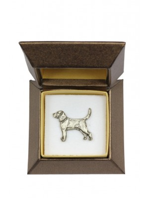 Beagle - pin (silver plate) - 2644 - 28926