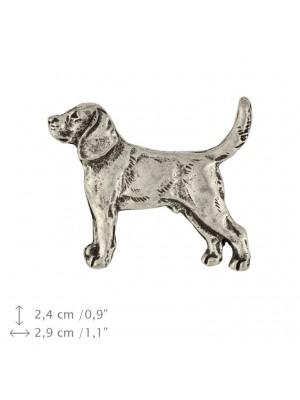 Beagle - pin (silver plate) - 458 - 25938