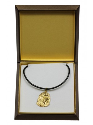 Bearded Collie - necklace (gold plating) - 3032 - 31668