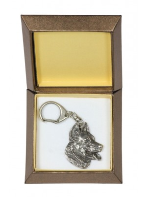 Beauceron - keyring (silver plate) - 2749 - 29868