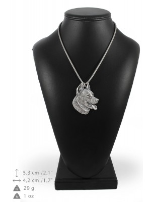 Beauceron - necklace (silver cord) - 3179 - 33100
