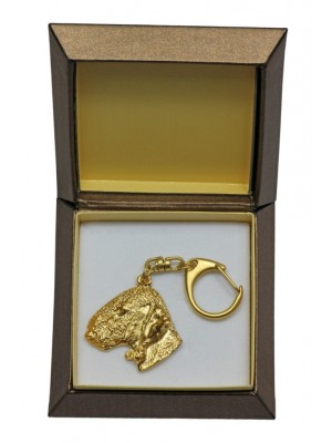 Bedlington Terrier - keyring (gold plating) - 2425 - 27296
