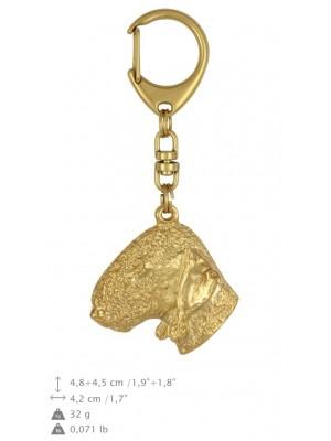 Bedlington Terrier - keyring (gold plating) - 841 - 25184