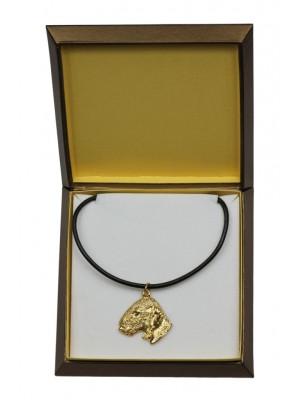 Bedlington Terrier - necklace (gold plating) - 2498 - 27657