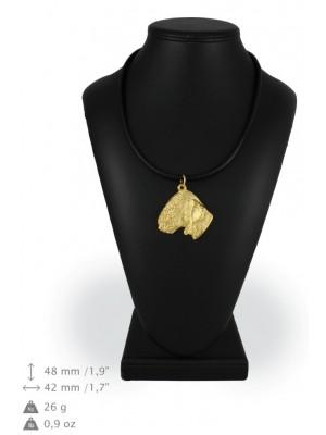Bedlington Terrier - necklace (gold plating) - 958 - 25444