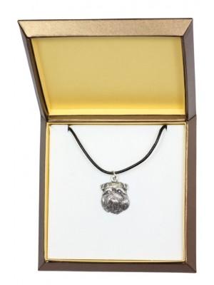 Belgium Griffon - necklace (silver plate) - 3018 - 31153