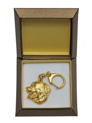 Bernese Mountain Dog - keyring (gold plating) - 2446 - 27317