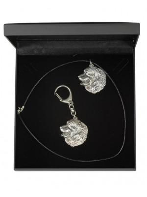 Bernese Mountain Dog - keyring (silver plate) - 1759 - 11322